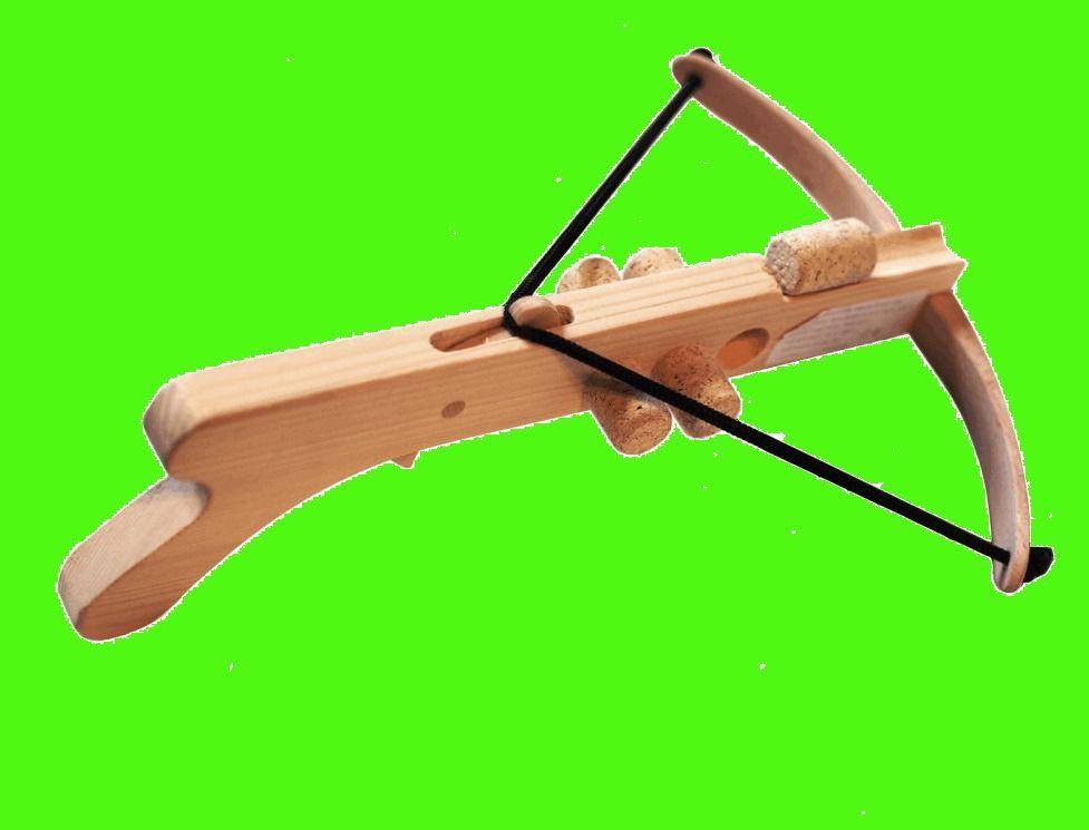 Arbalète en bois à bouchons liège pour enfant