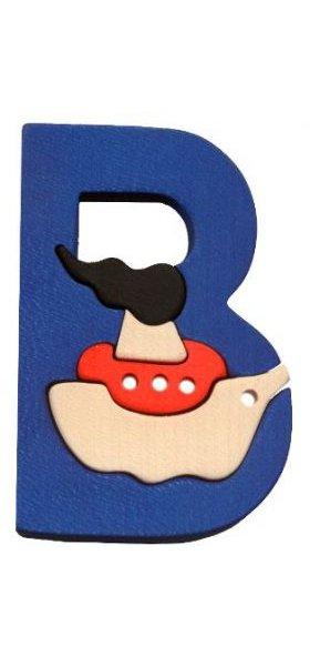 B- bateau  Lettres bois, déco et puzzles