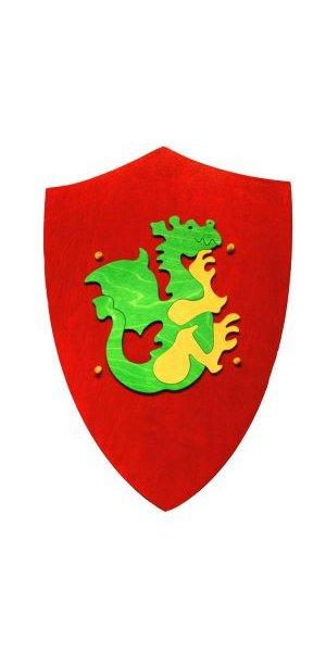Jouet bouclier de chevalier au dragon