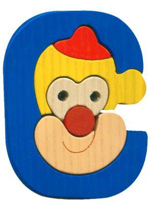 C- clown Lettres bois, déco et puzzles