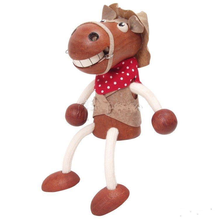 Famille Zébulos : Cheval cow-boy  poupée à ressort