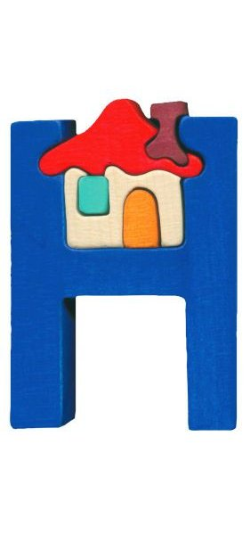 H - house Lettres bois, déco et puzzles