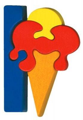 I - ice cream  Lettres bois, déco et puzzles