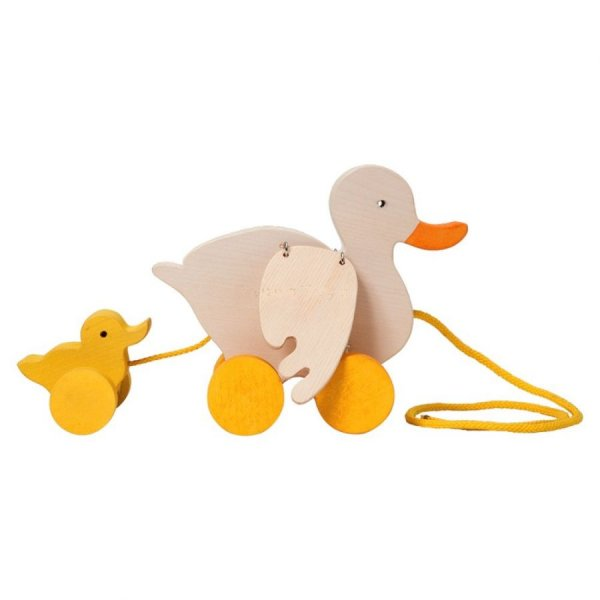Jouet à tirer : Canard et bébé