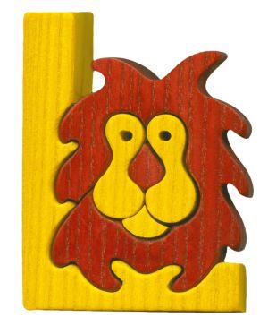 L - lion Lettres bois, déco et puzzles