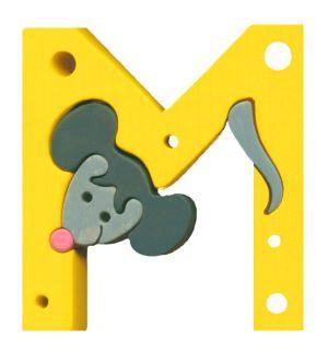 M -mouse. Lettres bois, déco et puzzles