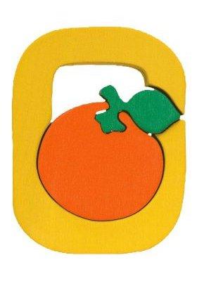 O - orange. Lettres bois, déco et puzzles