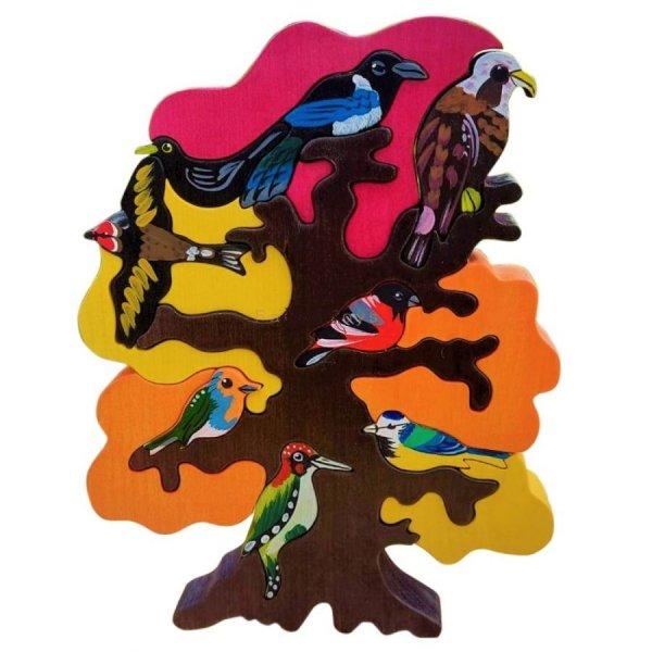 Puzzle en bois arbre d'Europe - Le Chêne en automne
