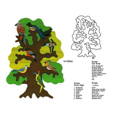 Puzzle arbre :  L'Europe - Chêne