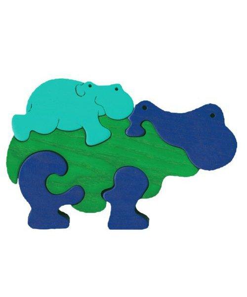 Puzzle Maman hippo et bébé