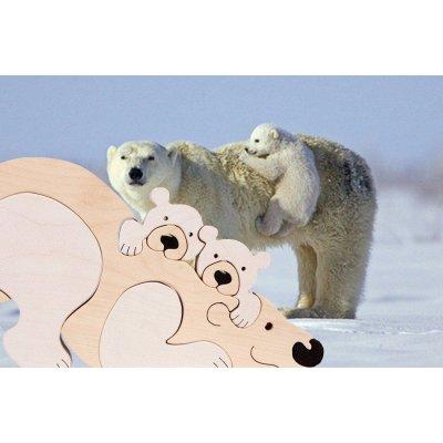 Puzzle L'ours polaire et bébés
