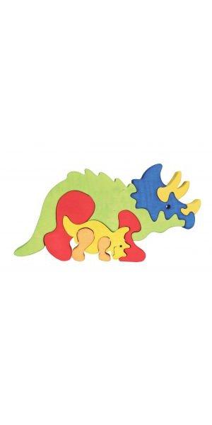 Puzzle Tricératops et son bébé