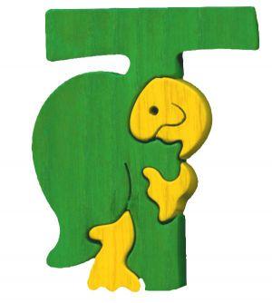 T- tortue  Lettres bois, déco et puzzles