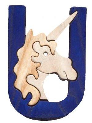 U- unicorn  Lettres bois, déco et puzzles