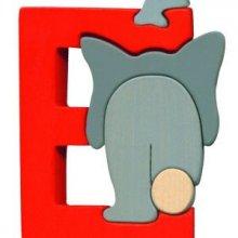 E- éléphant Lettres bois, déco et puzzles