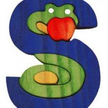 S- serpent  Lettres bois, déco et puzzles